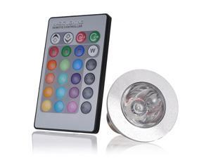 E27 3W LED RGB 16 Color Changing Spotlight Light Bulb + IR Remote Control 85-240V