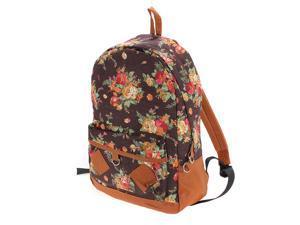 Women Girl Lady Vintage Cute Flower Floral Bag Schoolbag Campus Bookbag Backpack 5 Colors for Laptop Notebook Tablet PC