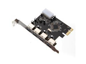 5Gbps  PCI-e PCI Express to 4 Port USB 3.0 VLI USB Hub Controller Card Adapter