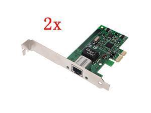 2pcs Gigabit Ethernet LAN PCI-E Express Network Desktop Controller Card 10/100/1000M