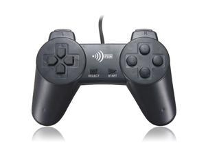Wired USB 2.0  GamePad Game Pad Shock Joypad Joystick Controller for Window PC Computer Laptop New Black