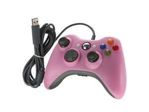 Pink Wired USB Game Pad Controller For Xbox360 Xbox 360 Slim PC Windows 7 US