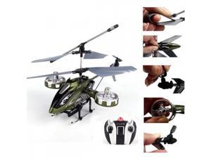 Avatar F103 4CH Chanel Minni Remote Control RC Helicopter Gyro LED Light RTF Army Green
