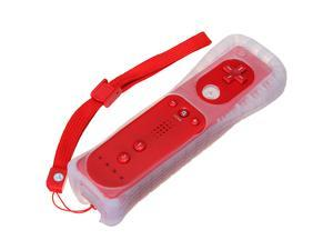Wiimote Remote Control Controller for Nintendo Wii Game Red +Free Silicone