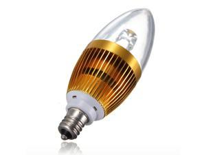 E12 High Power LED Candle Light Bulb 85-240V 5W Warm White