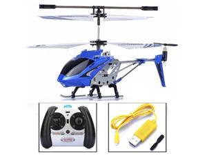 SYMA S107 S107G 3Ch 3-Channel Mini Metal Remote Control RC Helicopter GYRO Blue