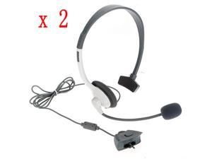2pcs Headset Headphone Earphone Microphone for Microsoft Xbox 360 Controller Live