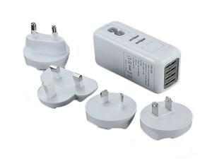 4 Ports USB Wall Home Charger Adapter AC Plug for iPad 4 mini iPhone 5 Galaxy S4