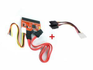 4 Pin IDE Molex to 2 Serial ATA SATA Y Splitter Hard Drive Power Adapter Cable +3.5 IDE to SATA Serial ATA / SATA to IDE ...
