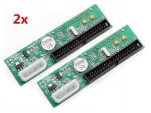 2 pcs 40 PIN 2.5''/3.5'' HDD Drive SATA to ATA IDE Converter Adapter WIN 7 Mac OS 8.6