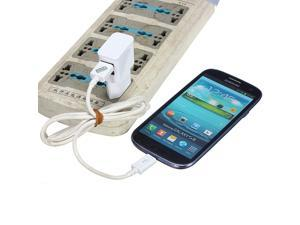 USB Wall Charger Adapter EU Plug 2 Ports for iPhone 5 4S S3 S4 HTC One Nexus 4