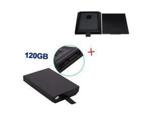 120GB 120G 120 GB Internal HDD Hard Drive Disk Kit + Replacement Case Shell For Microsoft Xbox 360 Slim Black