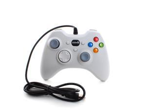 Wired USB Game Controller Gamepad Game Shock Joystick Joypad for Windows PC Computer White