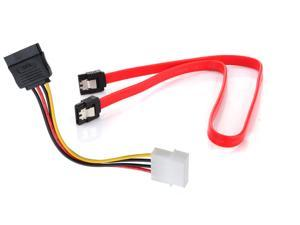 New Serial SATA ATA RAID DATA HDD Hard Drive Signal Cable + 4 Pin IDE Molex to 15 Pin Serial ATA SATA Hard Drive Power Cable ...