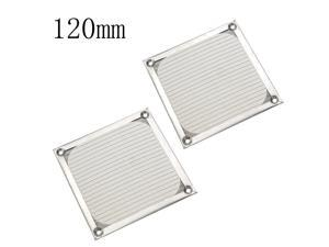 2 Pcs Aluminum Dustproof Dust Filter Cover Guard 12cm for PC Case Cooling Chassis Fans