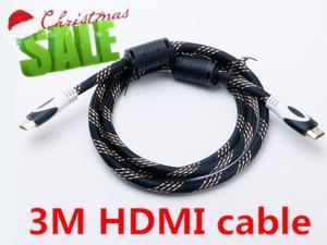 10FT 3M 5M Premium HDMI Cable V1.4 3D HighSpeed Ethernet Full HD HDTV PS3 2160P 1080P