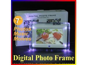 Multi-functional LCD Digital Photo Frame Movies  Music Video MP3 MP4 Player Alarm Clock Calendar Light Lamp with Remote Control ...