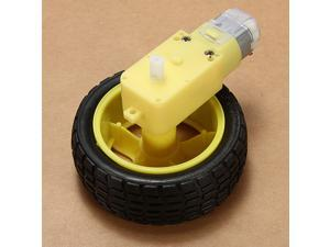 Smart Car Robot Plastic Wheel Tire Tyre + DC 6V Gear Motor for Robot set