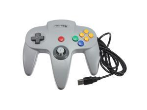 Classic  Wired Nintendo 64 N64 USB Controller Game Gaming Gamepad Joypad Joystick for PC MAC Computer Grey