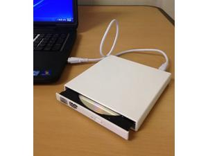 New USB 2.0 External DVD Combo CD-RW Burner Drive CD±RW DVD ROM White for PC MAC
