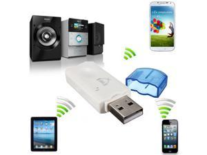 USB Wireless Handsfree Bluetooth Audio Music Receiver Adapter for iPhone 5S 5C 5