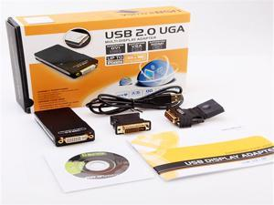 USB 2.0 To VGA DVI HDMI Converter Graphics Adapter PC laptop Win7 64 32 Mac HD 1080P Multi Display Dual Monitor