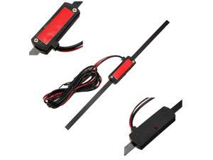 Car Universal Windshield Electronic AM-FM Radio Non-Directional Antenna Signal Amp Amplifier Booster 12V