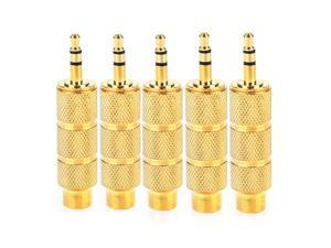 5 pcs 6.35mm 1/4 Female to 3.5mm 1/8 Male Plug Stereo Earphone Audio Adapter Converter