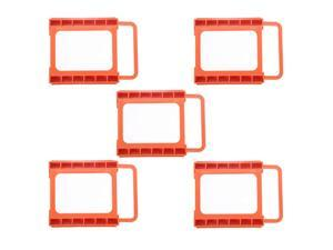 "5pcs 2.5"" to 3.5"" Notebook Hard Drive SSD Mounting Bracket Adapter Kit Bay Converter Dock Holder"