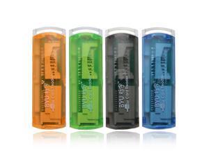 NEW 2pcs USB 2.0 Trans Flash Memory Multi-Card Reader Adapter micro SD SD/MMC Writer Four Colors