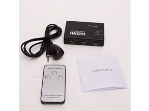 3 Port HDMI Switch Switcher Selector + Remote control + IR Receiver HD-DVD Sky-HD STV PS3 Xbox 360