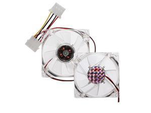 2pcs 4 Pins 80x80x25mm PC Computer CPU Case Heatsink Cooler Cooling Fan 12V Blue LED
