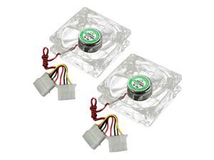 2pcs 80mm 8cm 4 Pins LED Colorful Cooling Cooler CPU Case Fan For Computer PC