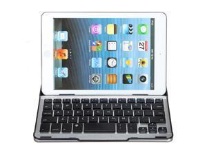 Aluminum Metal Bluetooth Wireless Keyboard Stand Snap On Case For iPad/Mini