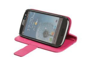 Flip Leather Card Wallet Purse Case Cover Stand for Samsung Galaxy SIII S3 i9300
