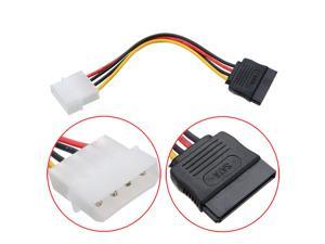 2X 4 Pin IDE Molex to 15 Pin Serial ATA SATA Hard Drive Power Cable