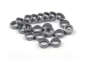 WAWO 20pcs MR128ZZ 8x12x3.5 Metal Shield Ball Bearing Ceramic Metric Hop-Up Heli Part