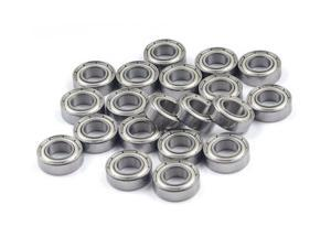 WAWO 20pcs MR148ZZ 8x14x4 Metal Shield Ball Bearing Ceramic Metric Hop-Up Heli Part