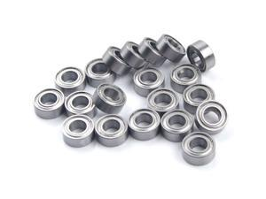 WAWO 20pcs MR105ZZ 5x10x4 Metal Shield Ball Bearing Ceramic Metric Hop-Up Toy Part
