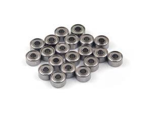 WAWO 20pcs 693ZZ 3x8x4 Metal Shield Ball Bearing Ceramic Metric Hop-Up Heli Car Part
