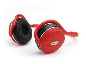 Kinivo BTH240 Bluetooth Stereo Headphone Supports Wireless Music Streaming and Hands-Free calling (Hot Red)
