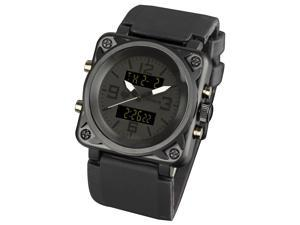 Infantry IN-023-ALLB-R USA Police Army LCD Sports NR Date Aviator Men's Black Quartz Watch