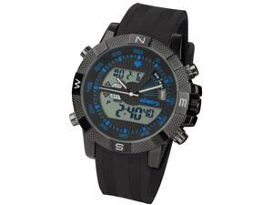 Infantry IN-048-BLU-R Fashion Modern Design Mens Rubber Digital LCD Quartz Sports Watch