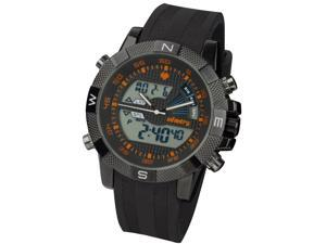 New Digital LCD Army Sports Mens Corps Air Force Police Rubber Silicone Watch