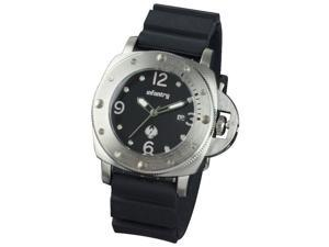 Infantry Men's Black Rubber Stainless Steel Quartz Watch