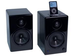 AktiMate Mini - 2-Way Active Bookshelf Speakers(Black)