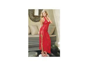 Leg Avenue Spanish Rose Lace Long Dress 88009 Red One Size Fits All
