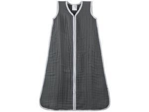 aden + anais 100% Cotton Muslin Cozy Sleeping Bag, Dream in Grey, Medium 1056