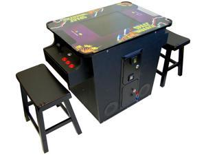 Retro Cocktail Arcade Machine 60 in 1 All the Classic Games Includes 2 Benches & WELCOME TO LAS VEGAS NEON SIGN Loaded with ...