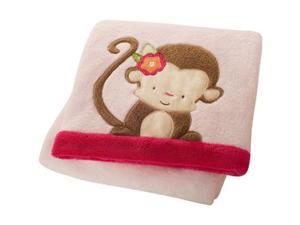Miss Monkey Baby Boa Blanket by Kids Line - 3205BB